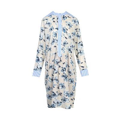 china collar flower dress multi